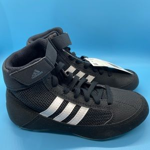 Adidas HVC 2 Youth Black And White Wrestling Shoes
